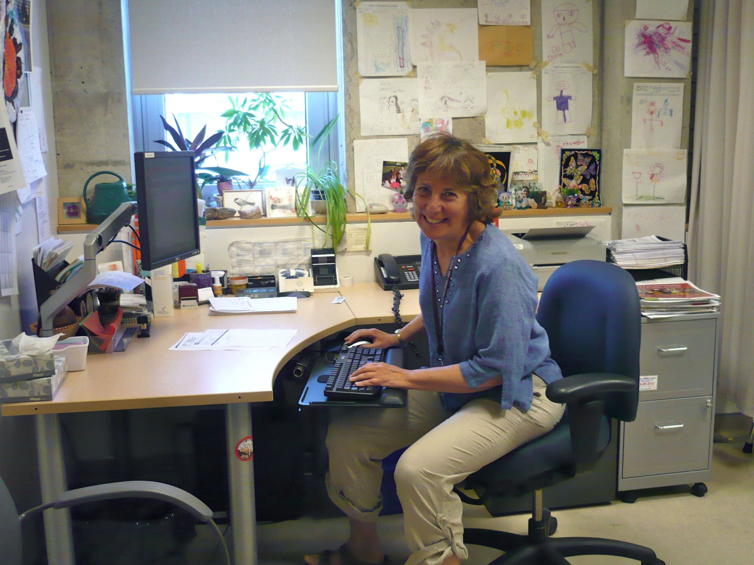 Miriam Garfinkle in her community clinic office